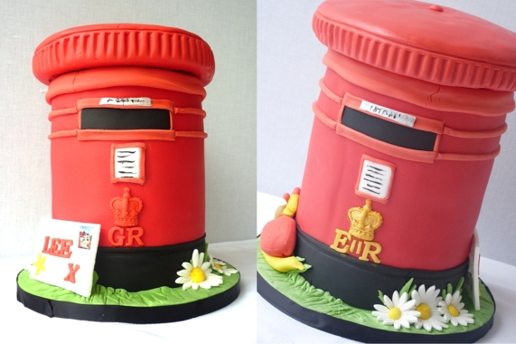 Marvelous Cake Of The Week A Royal Mail Post Box Kitchen Fever With Funny Birthday Cards Online Alyptdamsfinfo