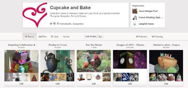 Cupcake and Bake Pinterest