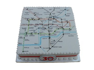 London Underground Map cake