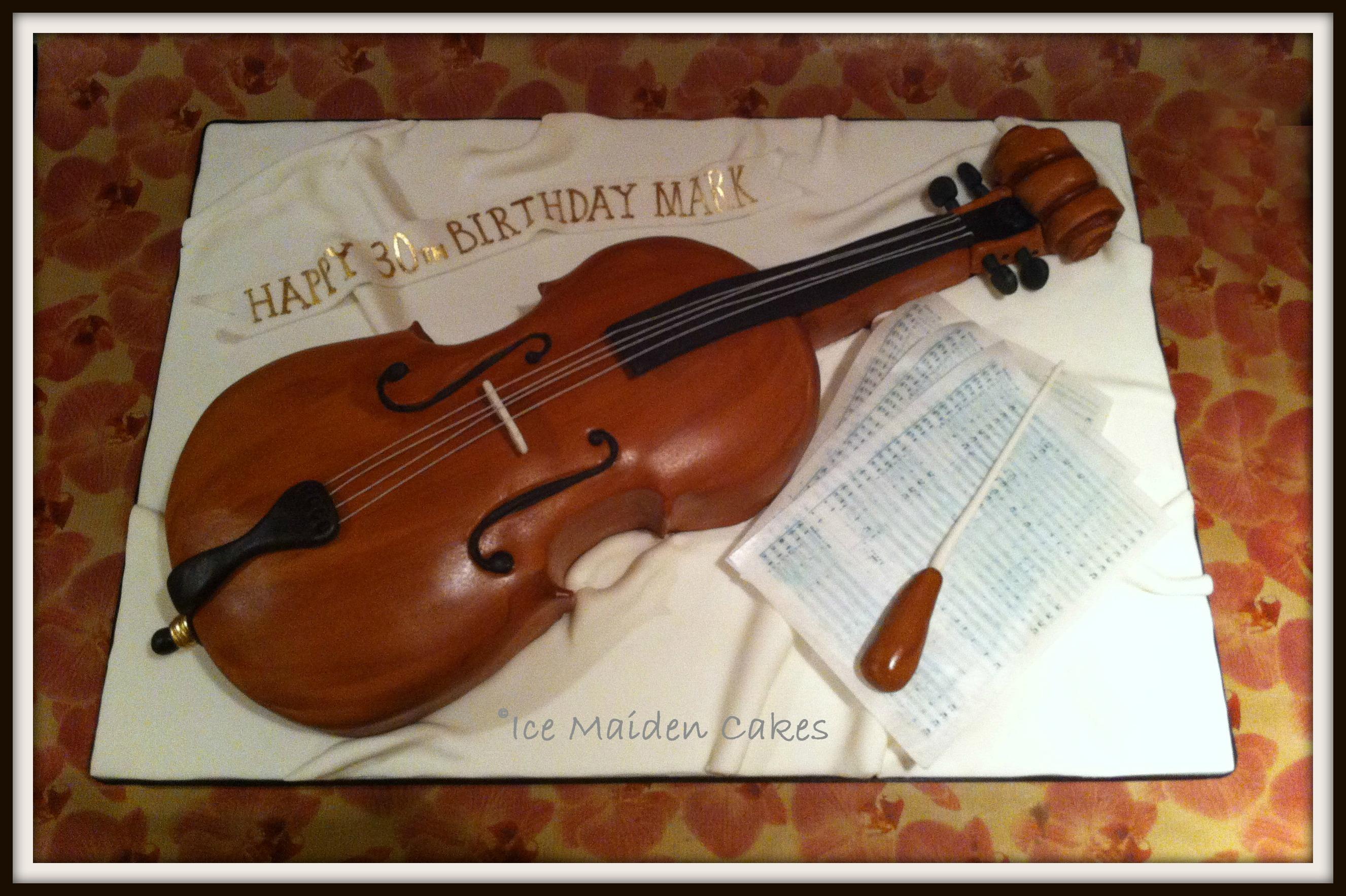 How To Make A Violin Birthday Cake