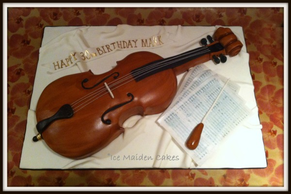 Cello Violin Birthday Cake