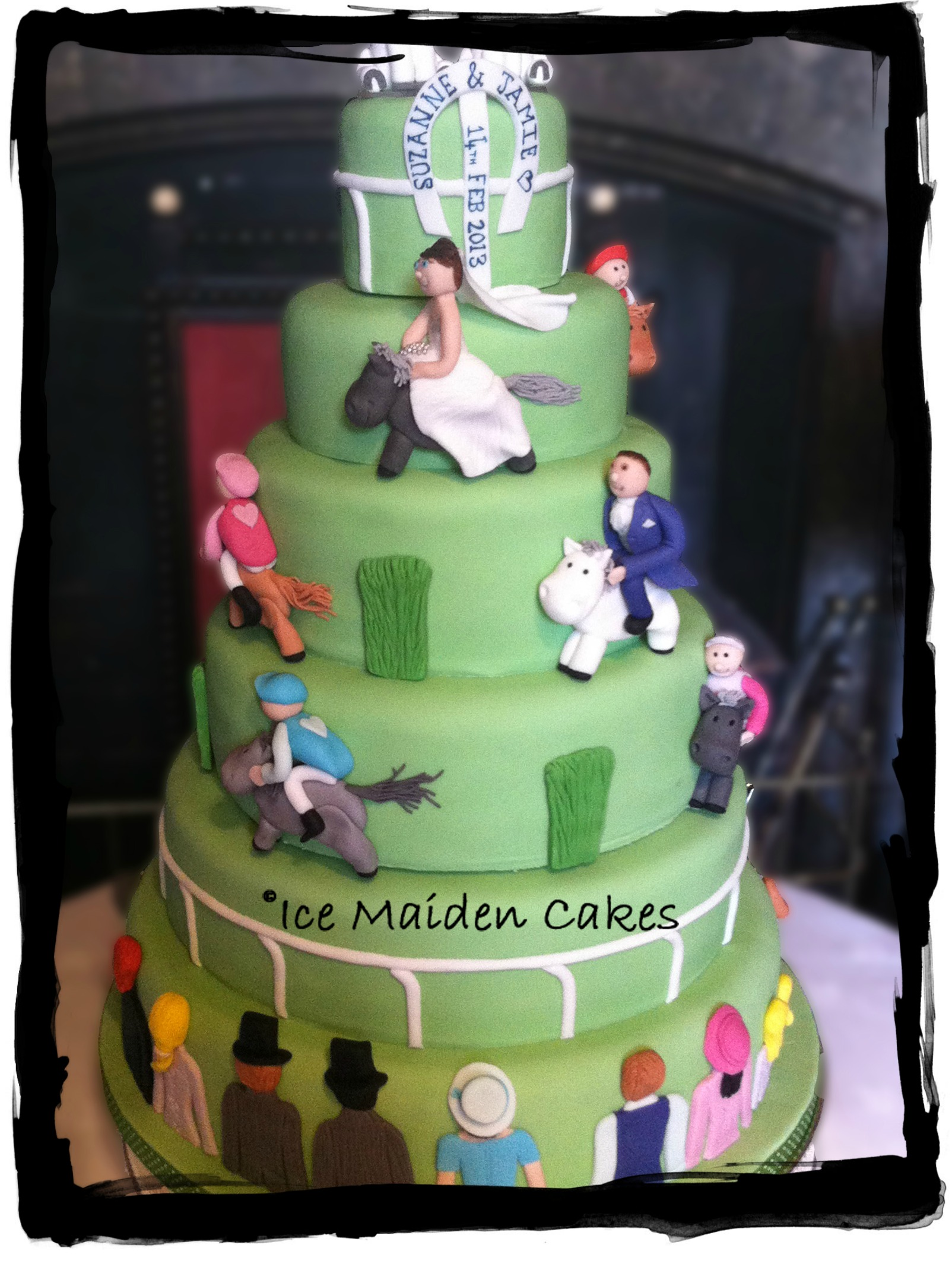 Horse Racing Wedding Cakes
