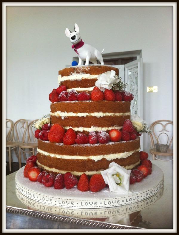 Naked Un-Iced Wedding Cake