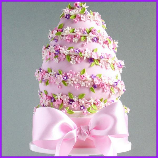 Pink Easter Egg Cake