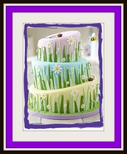 Wonky Springtime cake