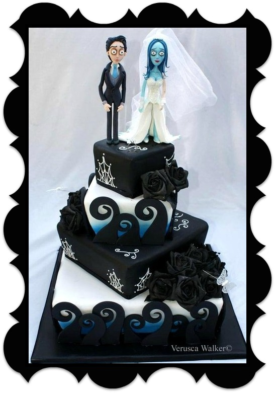 Wedding Cakes of the Week: April 9th – with a Tim Burton theme ...