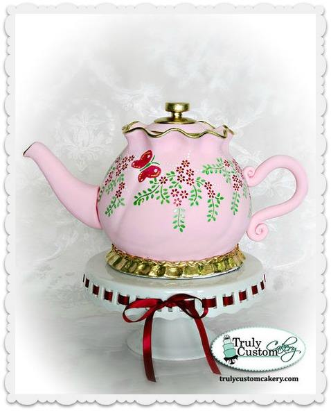 Truly Custom Cakery Teapot